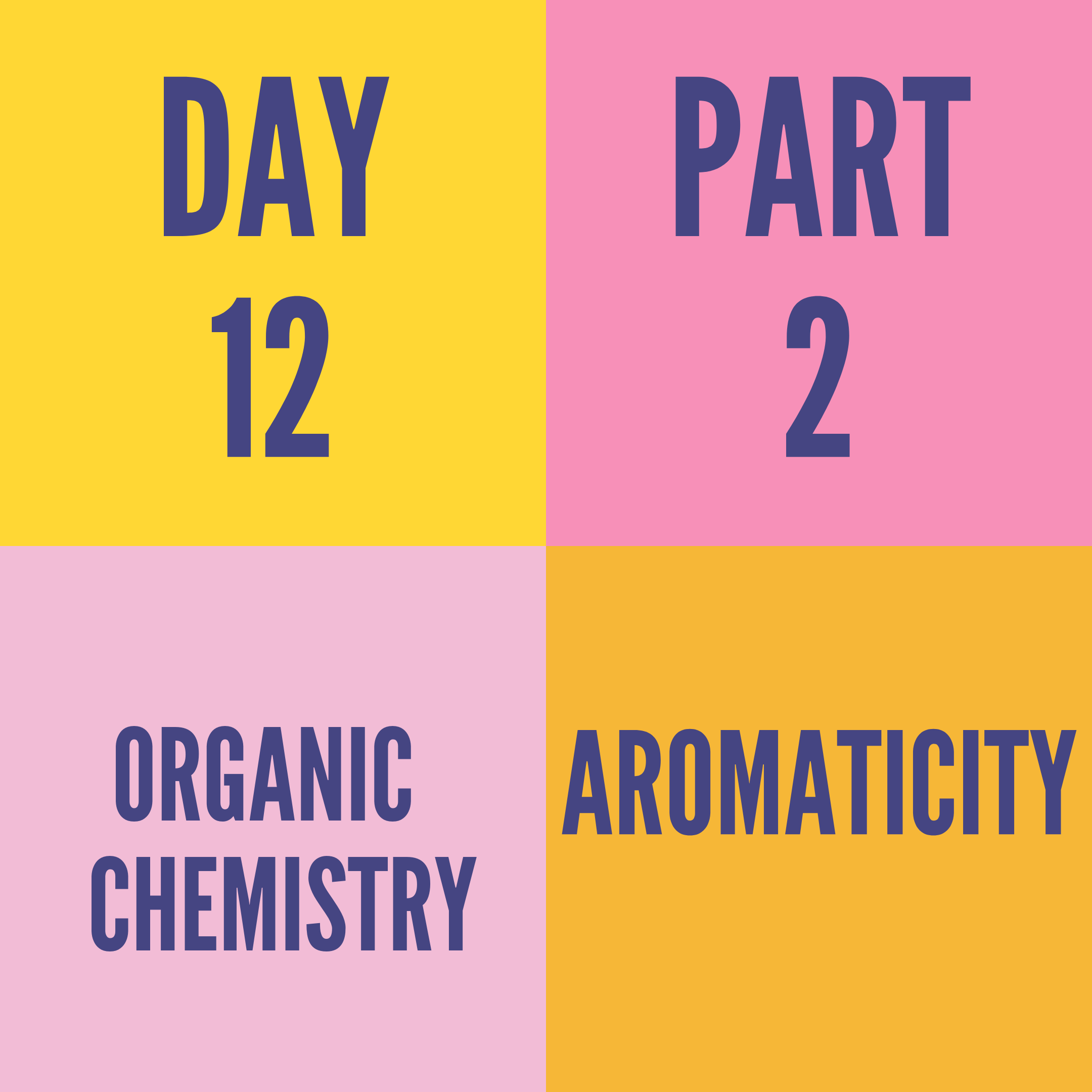 DAY-12 PART-2 AROMATICITY