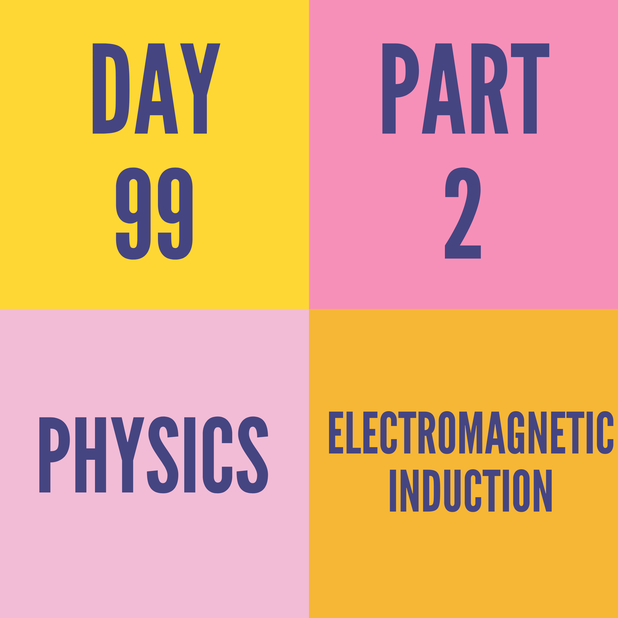 DAY-99 PART-2 ELECTROMAGNETIC INDUCTION