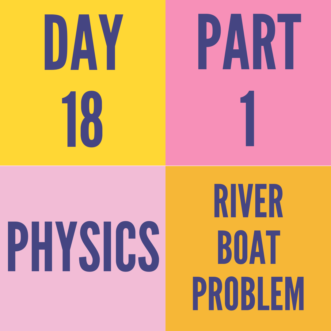 DAY-18 PART-1 RELATIVE MOTION IN ONE-D