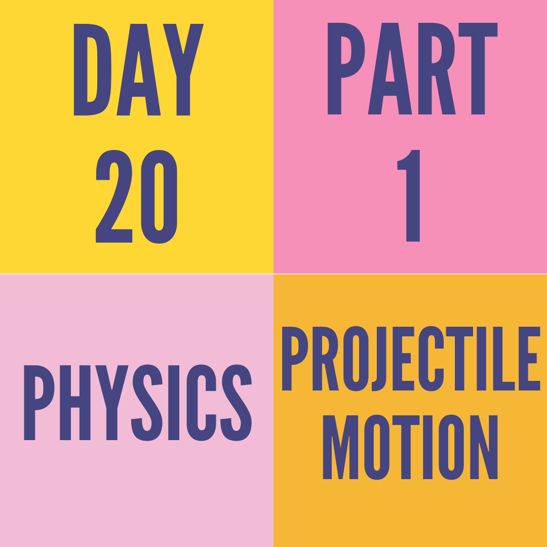 DAY-20 PART-1 PROJECTILE MOTION