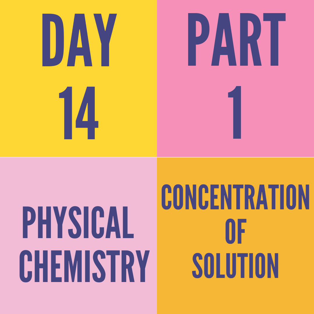 DAY-14 PART-1 CONCENTRATION OF SOLUTION