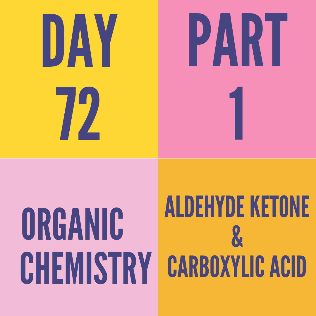 DAY-72 PART-1 ALDEHYDE,KETONE AND CARBOXLIC ACID