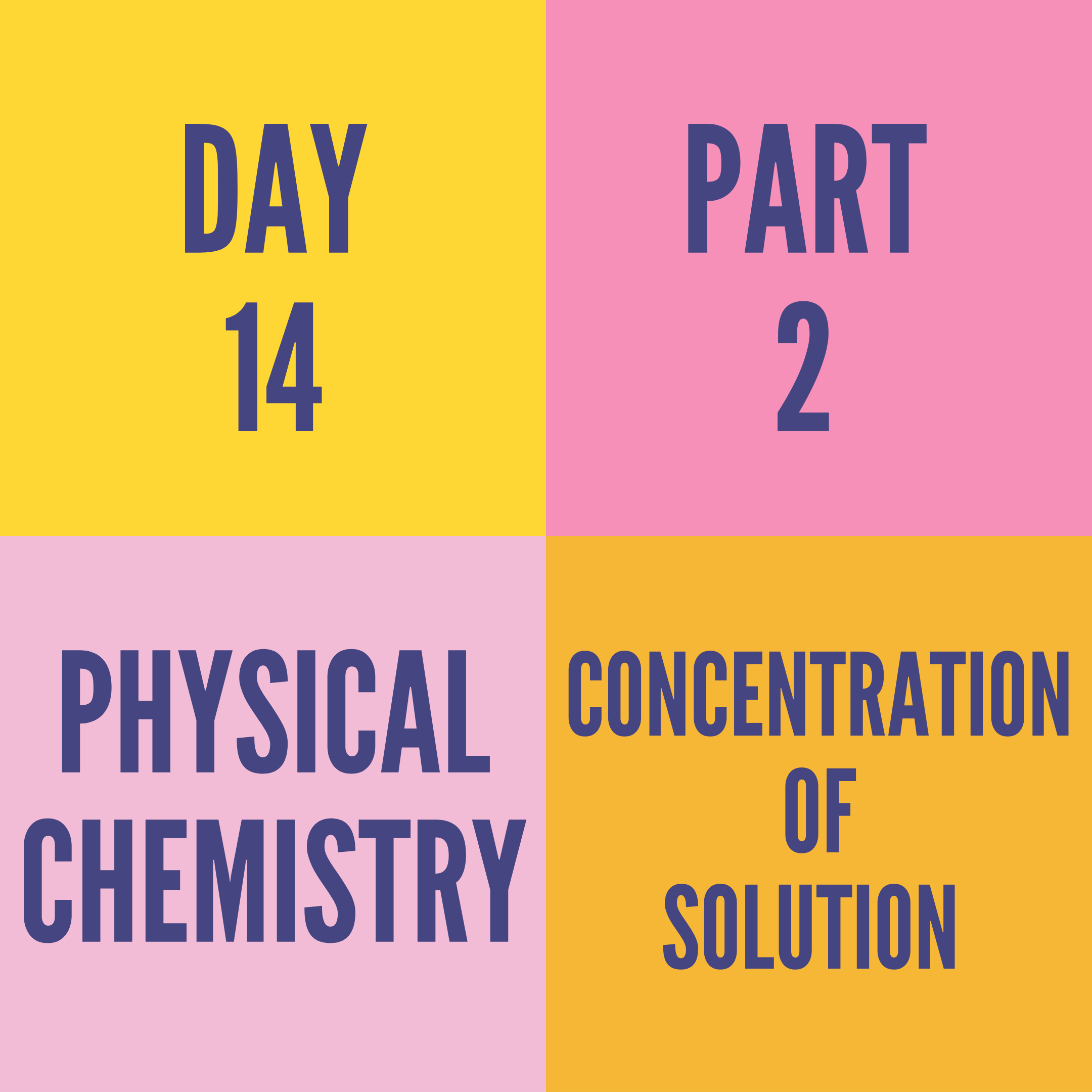DAY-14 PART-2 CONCENTRATION OF SOLUTION