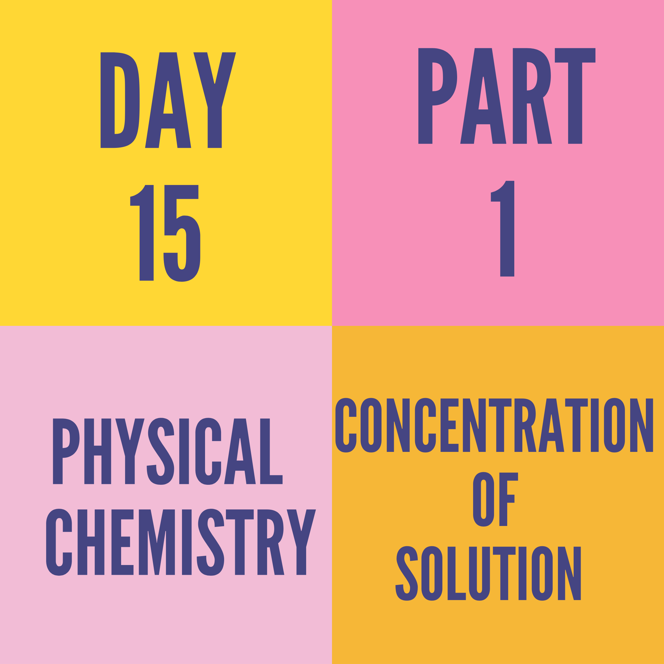 DAY-15 PART-1 CONCENTRATION OF SOLUTION