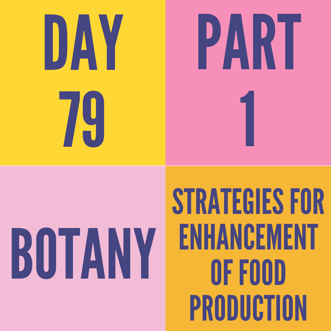 DAY-79 PART-1 STRATEGIES FOR ENHANCEMENT OF FOOD PRODUCTION
