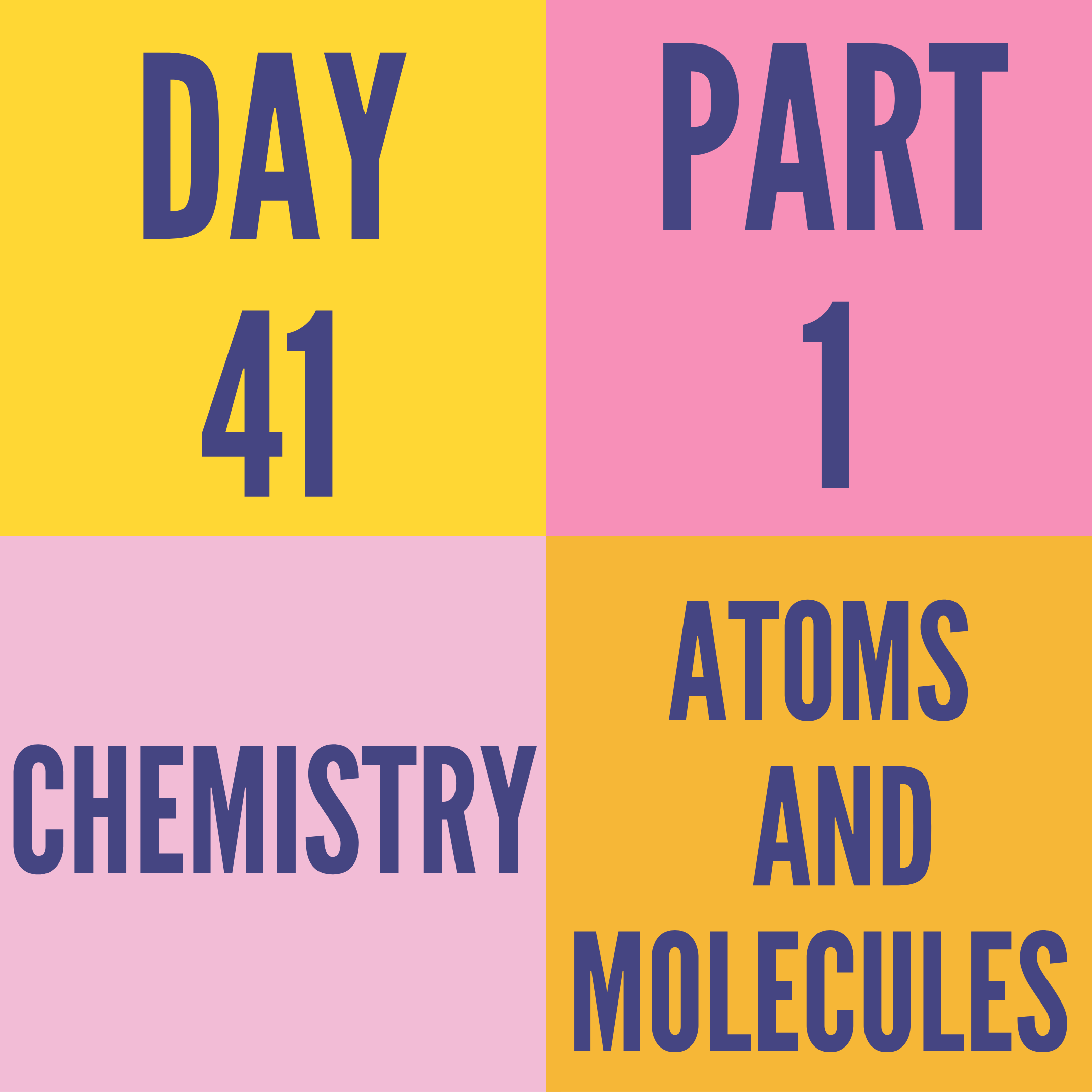DAY-41 PART-1 ATOMS AND MOLECULES