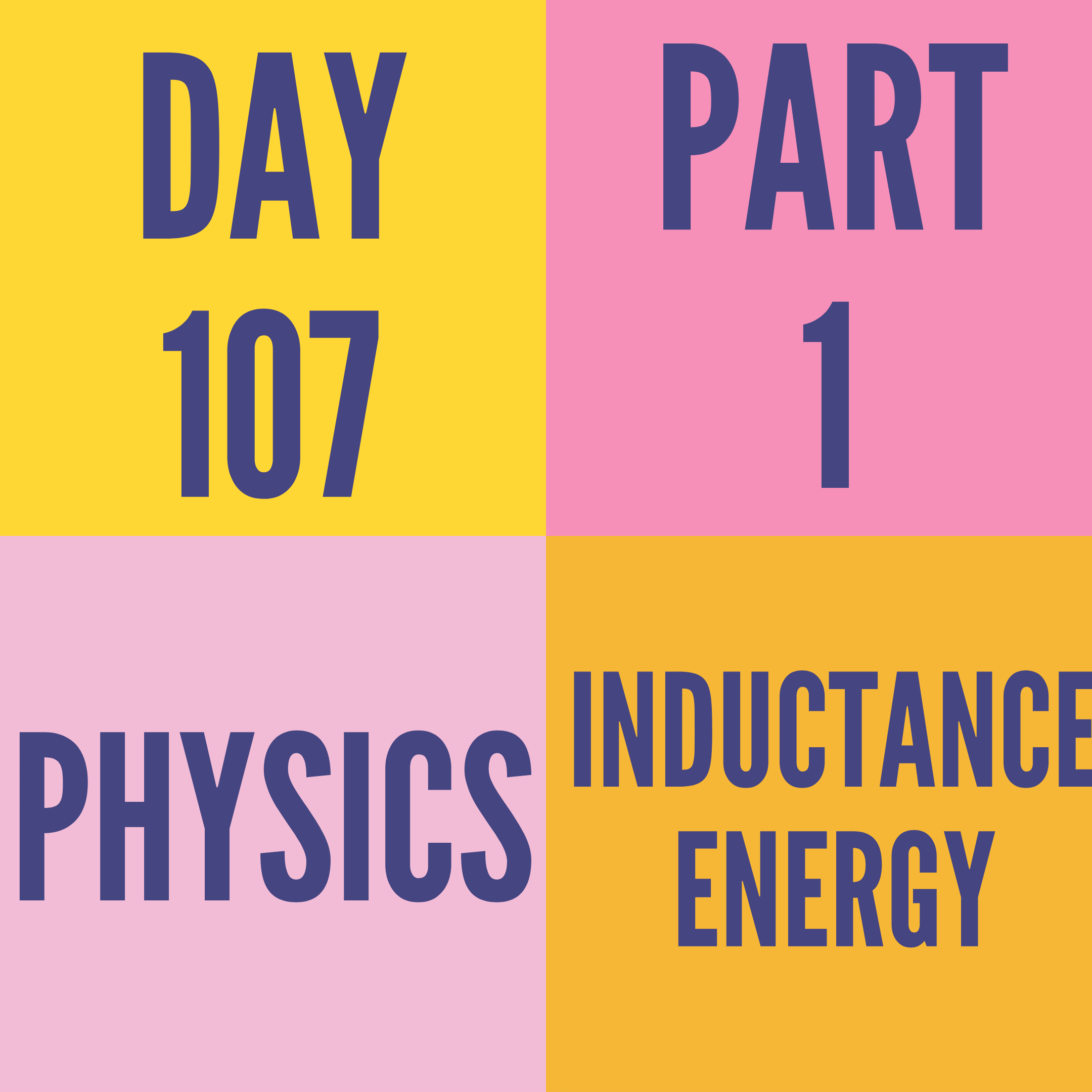 DAY-107 PART-1 INDUCTANCE ENERGY