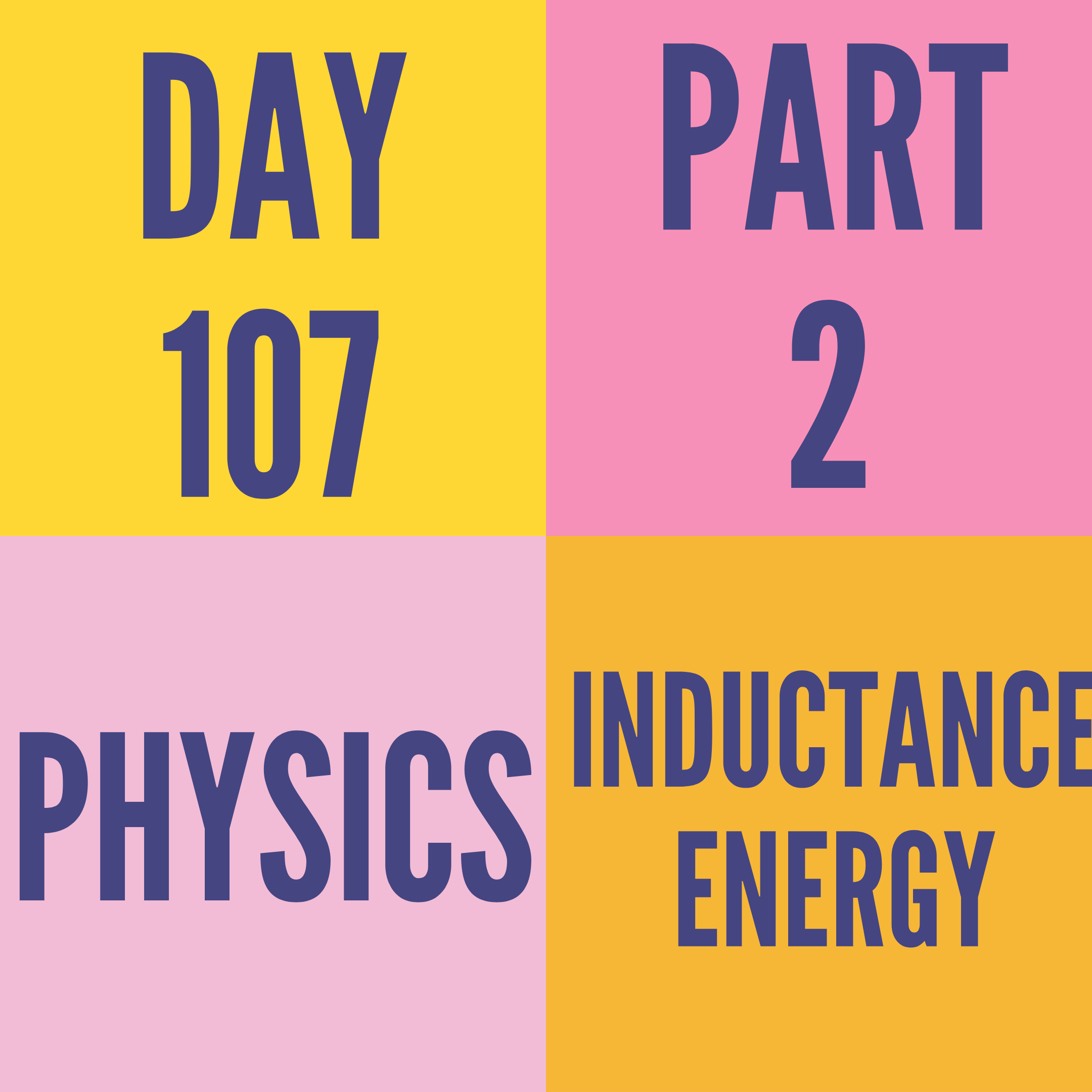 DAY-107 PART-2 INDUCTANCE ENERGY