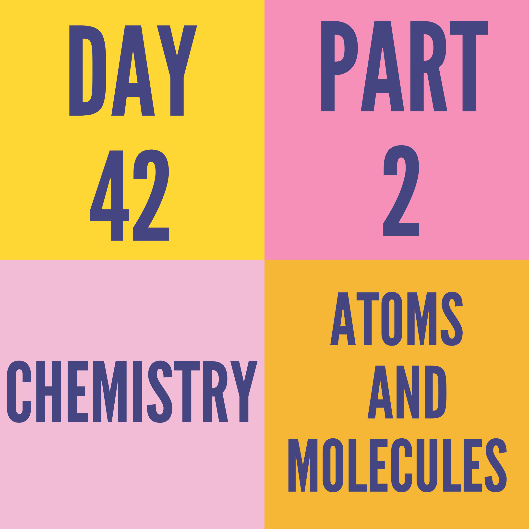 DAY-42 PART-2 ATOMS AND MOLECULES