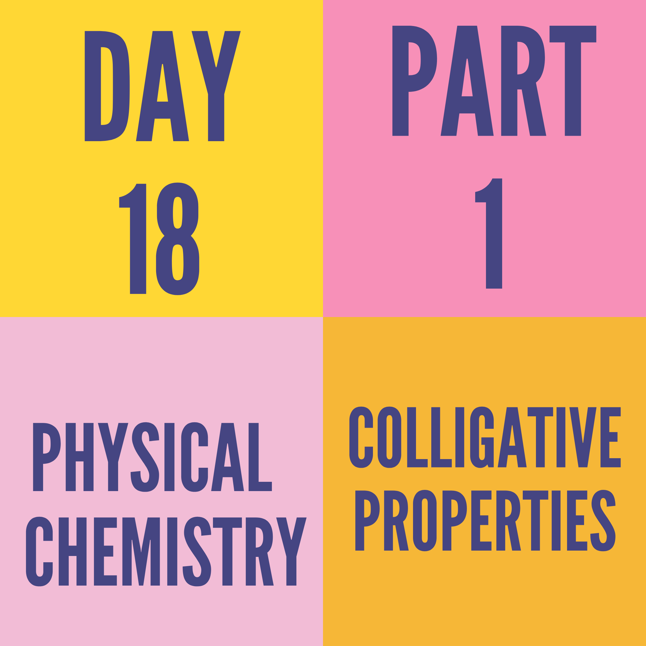 DAY-18 PART-1 COLLIGATIVE PROPERTIES