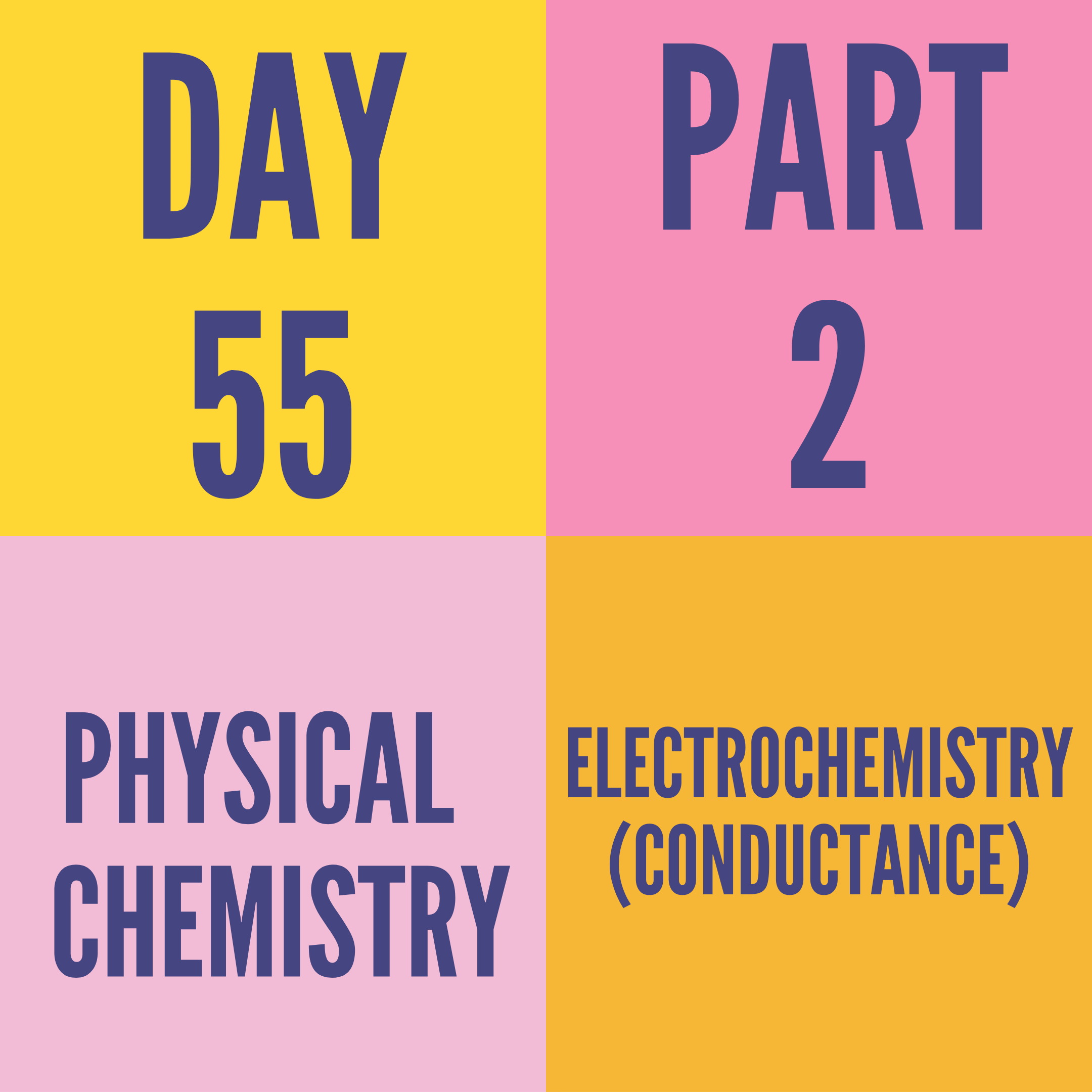 DAY-55 PART-2 ELECTROCHEMISTRY (CONDUCTANCE)