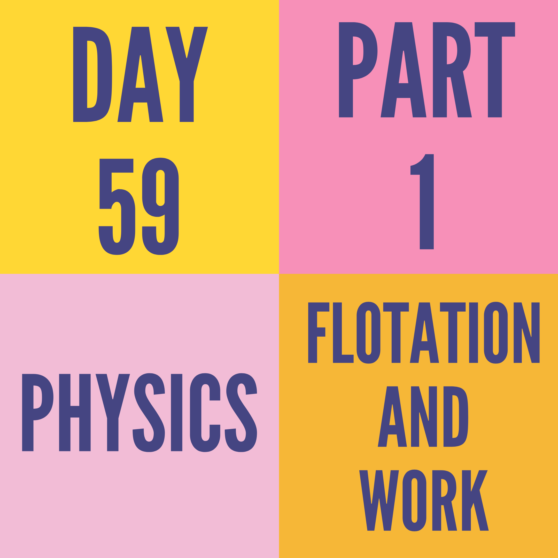 DAY-59 PART-1 FLOTATION AND WORK
