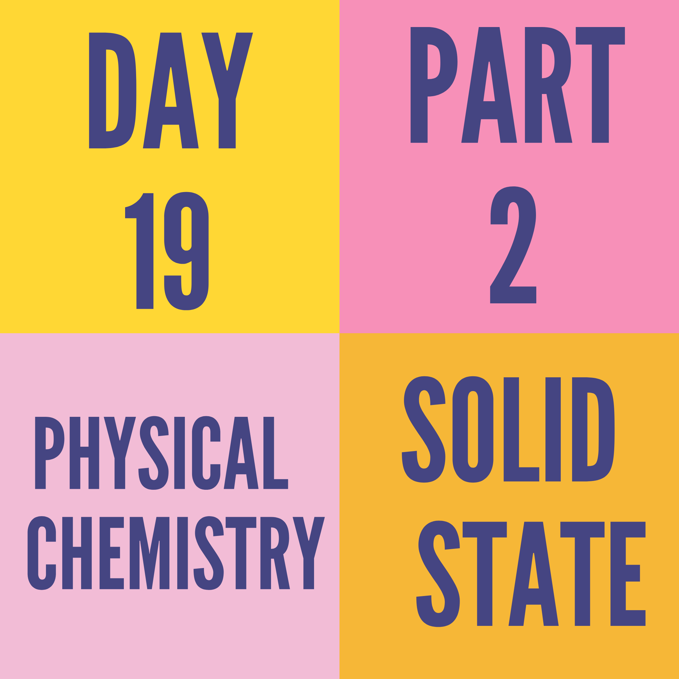 DAY-19 PART-2 SOLID STATE