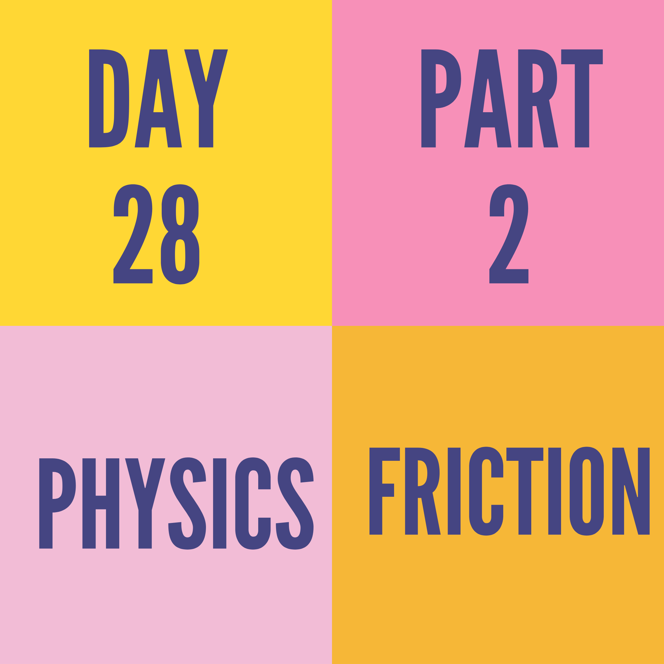 DAY-28 PART-2 FRICTION