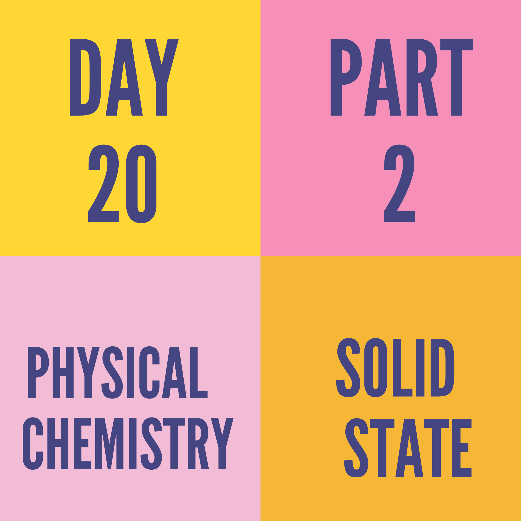 DAY-20 PART-2 SOLID STATE