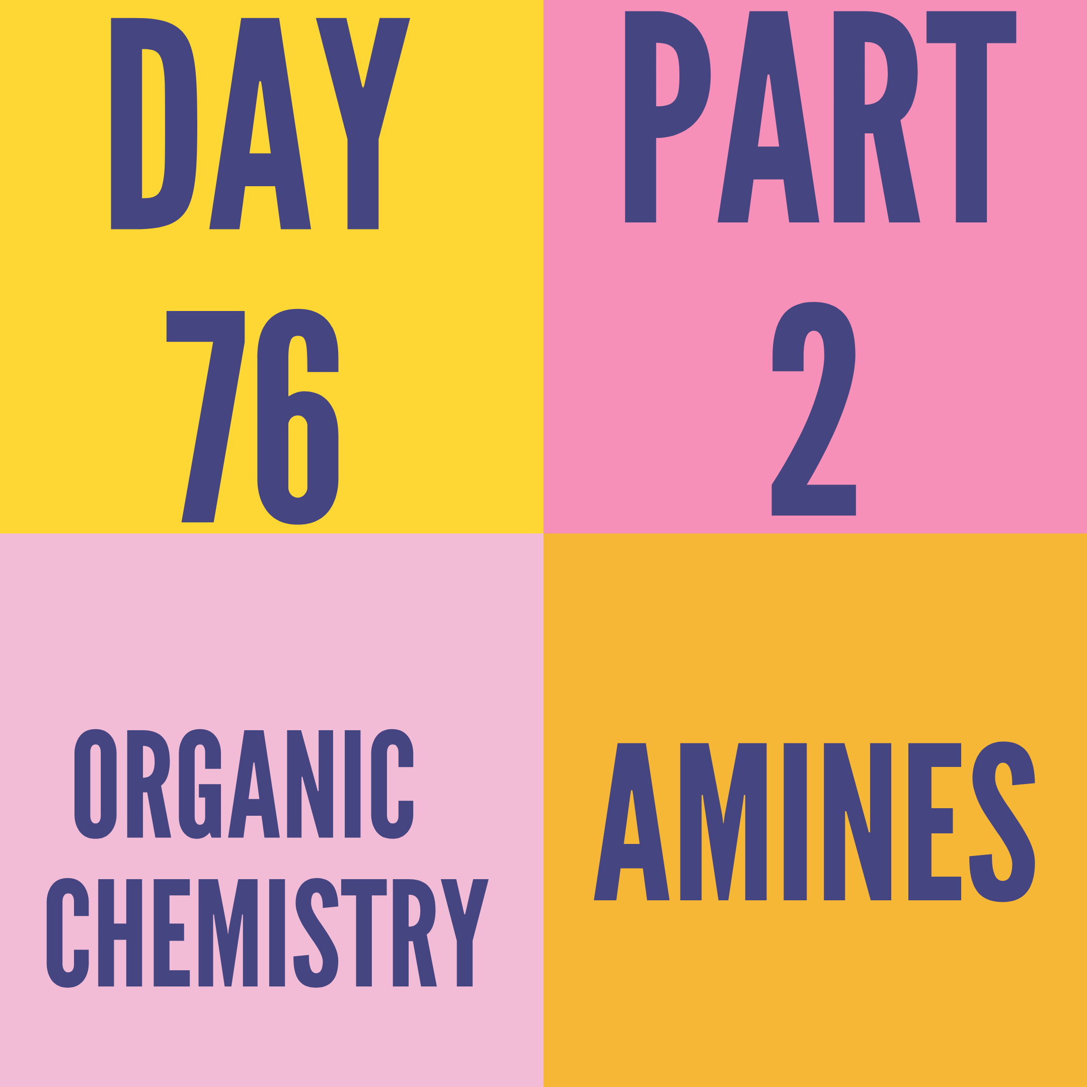 DAY-76 PART-2 AMINES
