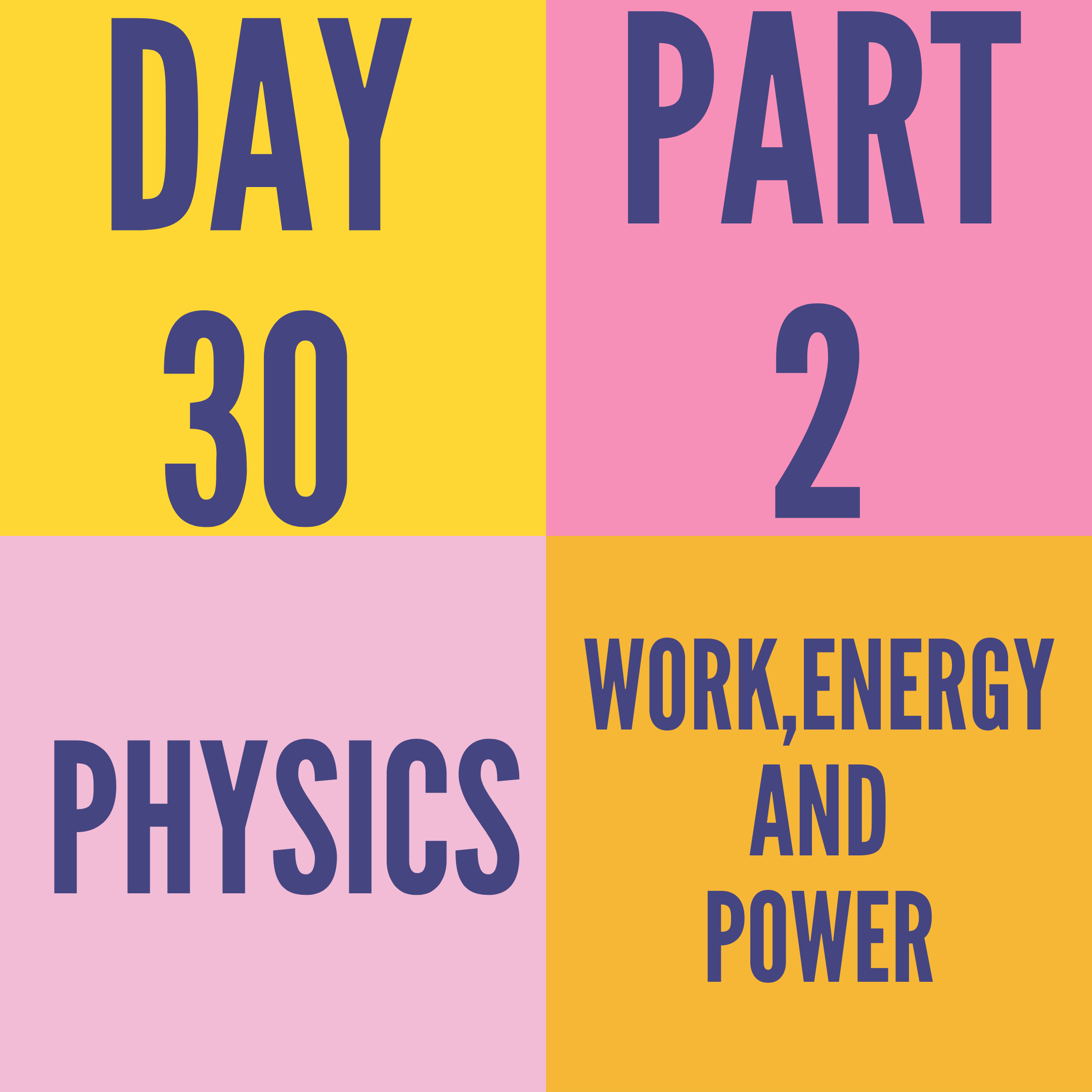 DAY-30 PART-2 WORK,ENERGY AND POWER