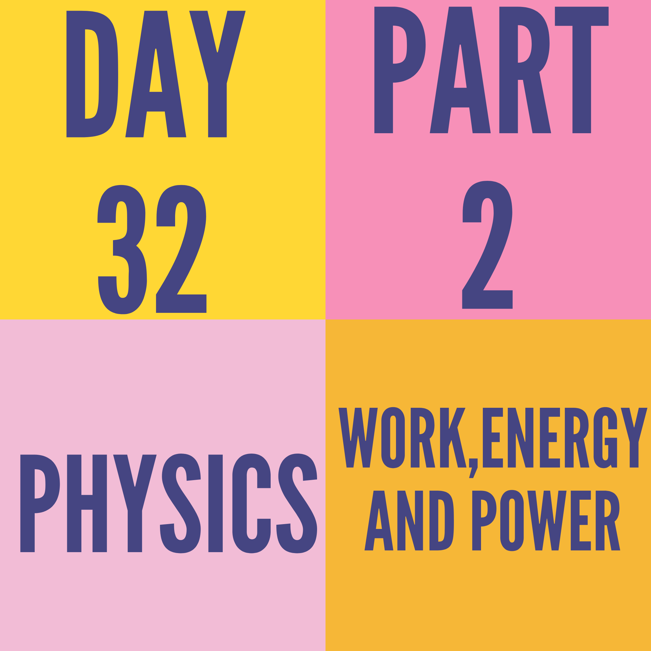 DAY-32 PART-2 WORK,ENERGY AND POWER