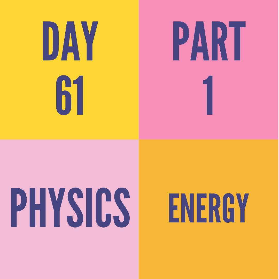 DAY-61 PART-1 ENERGY