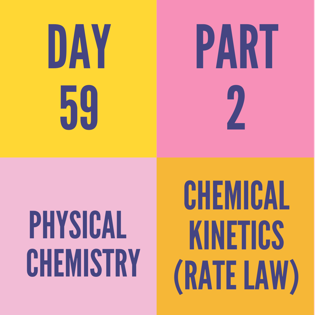 DAY-59 PART-2 CHEMICAL KINETICS (RATE LAW)