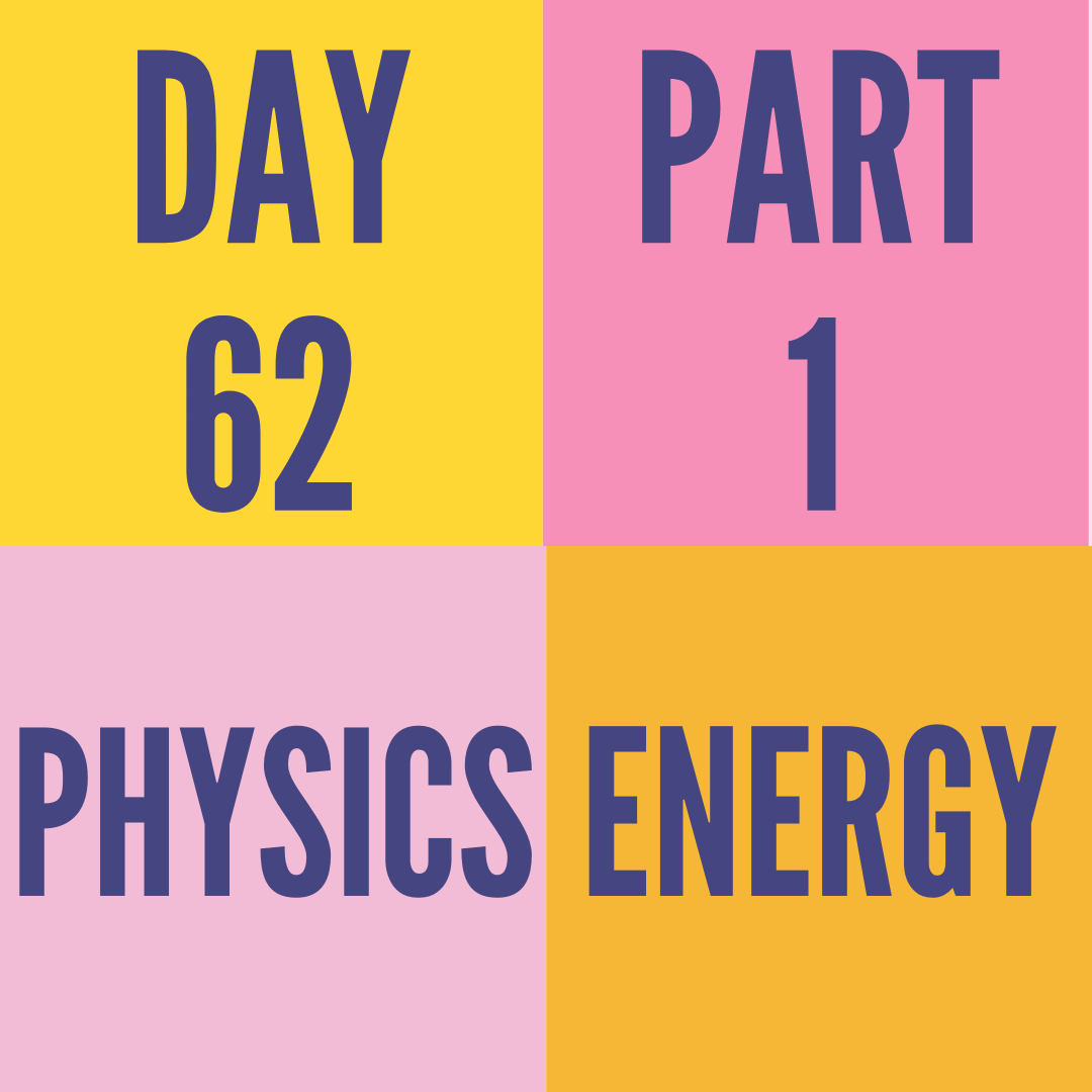 DAY-62 PART-1 ENERGY