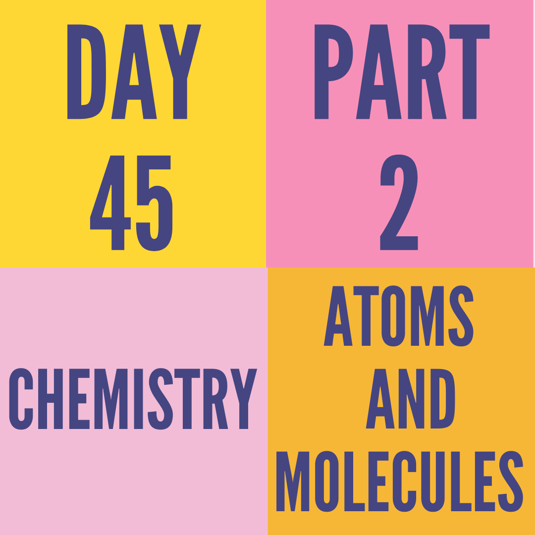 DAY-45 PART-2 ATOMS AND MOLECULES