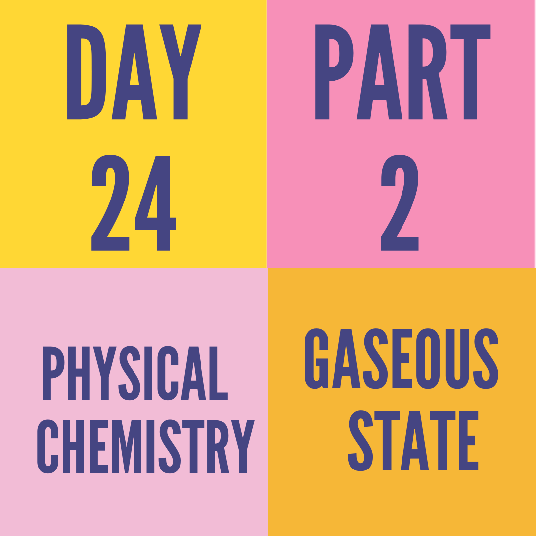 DAY-24 PART-2 GASEOUS STATE