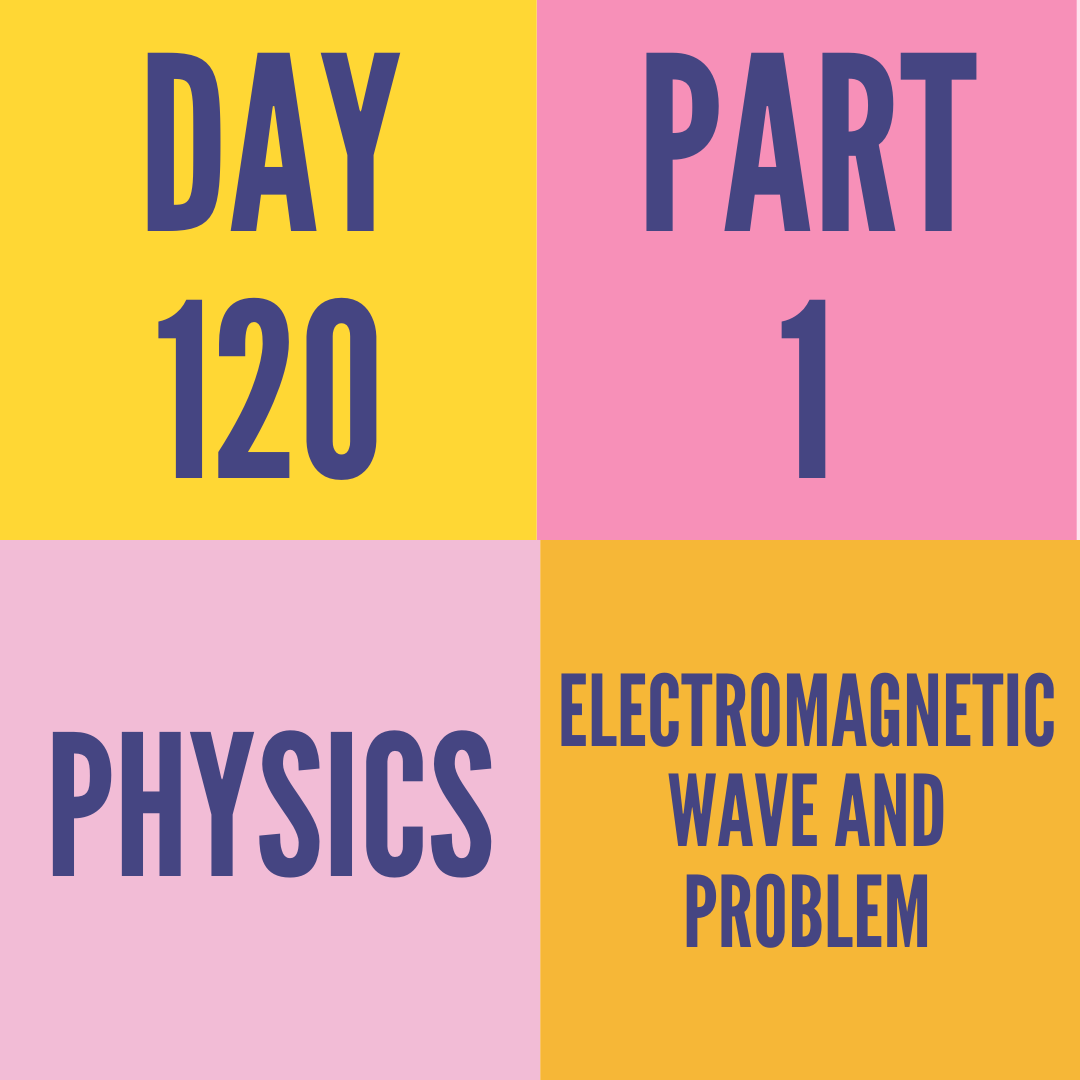 DAY-120 PART-1 ELECTROMAGNETIC WAVE AND PROBLEM
