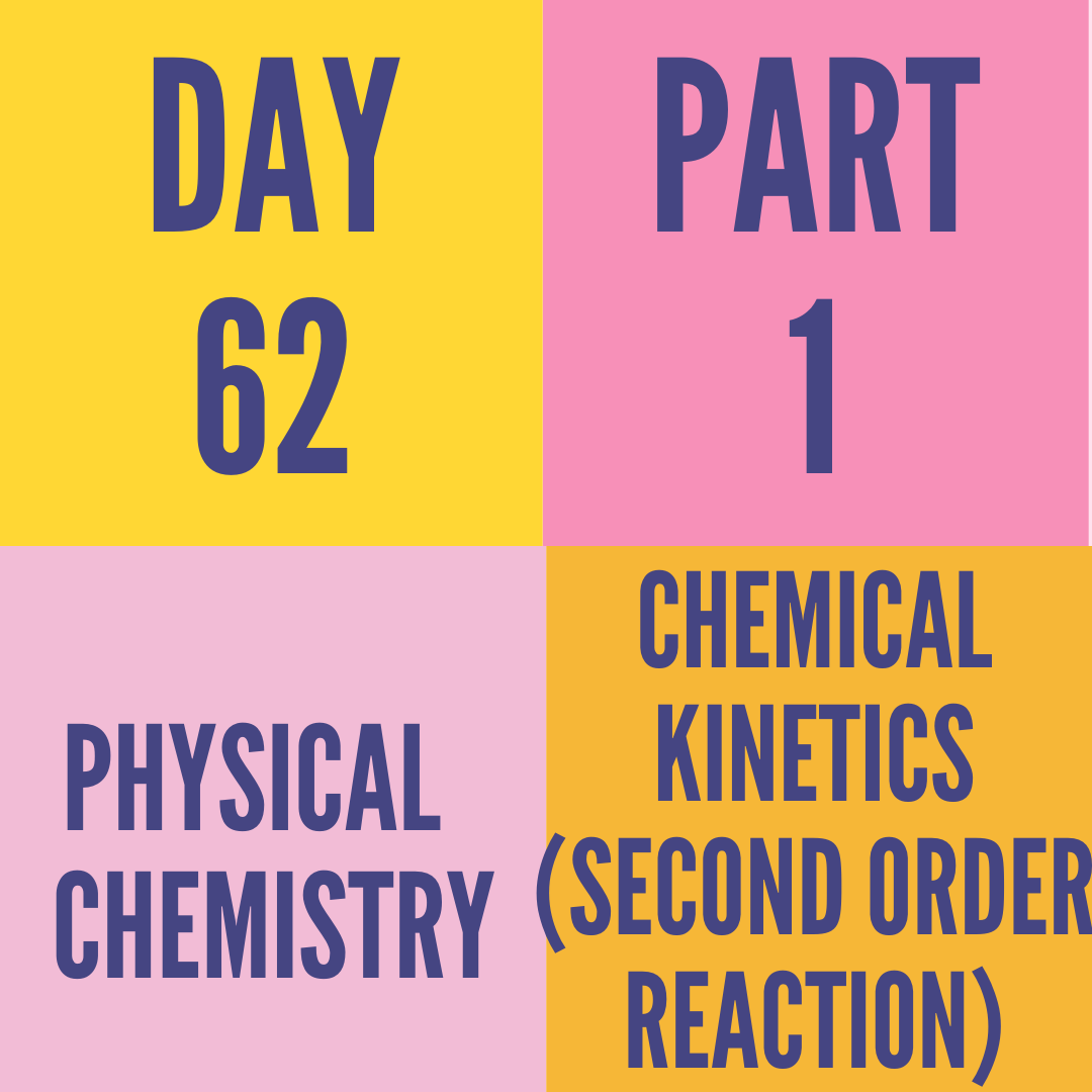 DAY-62 PART-1 CHEMICAL KINETICS (SECOND ORDER REACTION)