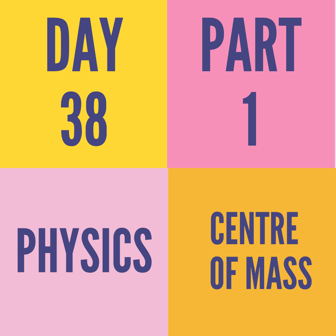 DAY-38 PART-1 CENTRE OF MASS