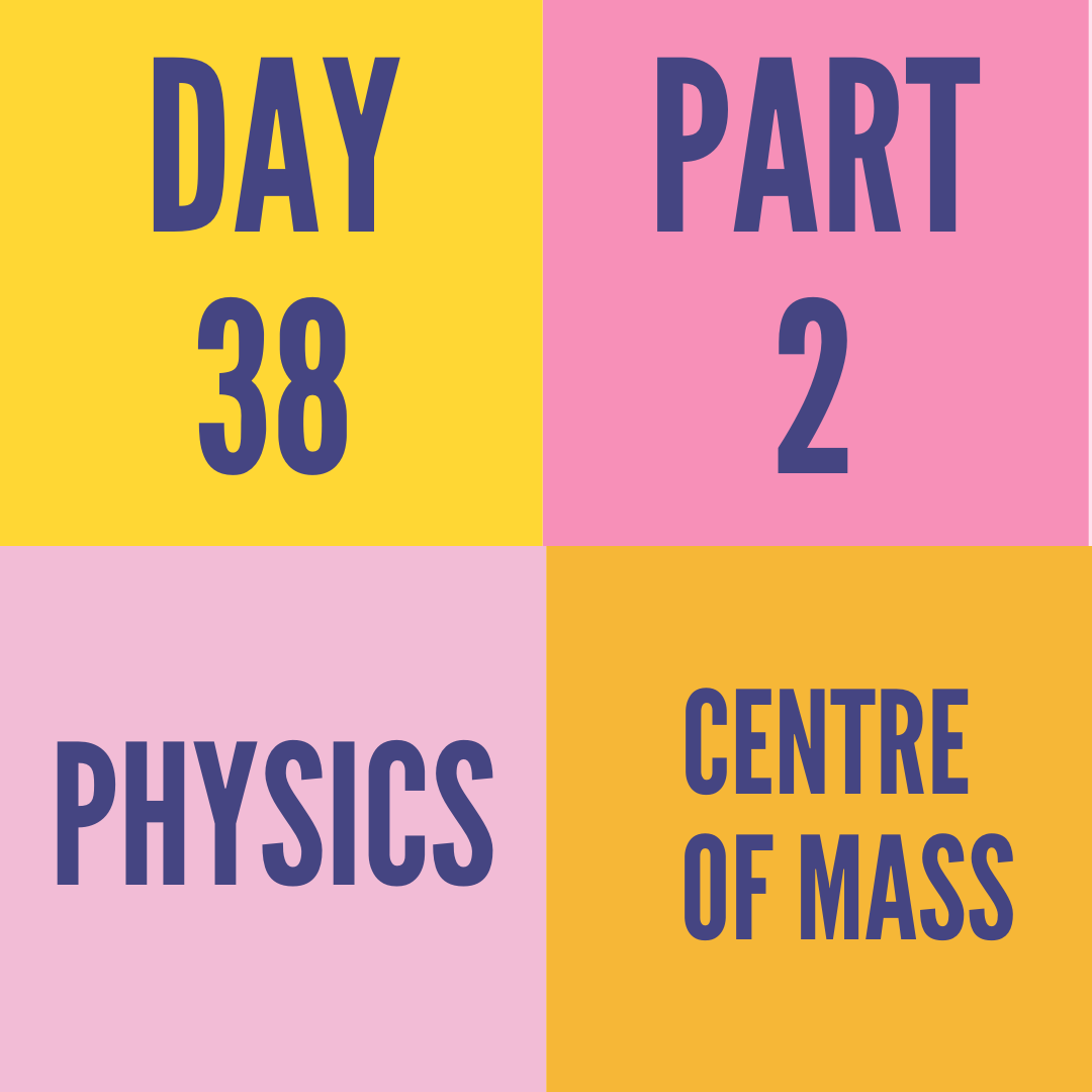 DAY-38 PART-2 CENTRE OF MASS