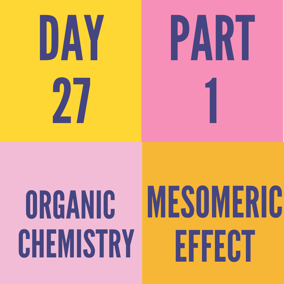 DAY-27 PART-1 MESOMERIC EFFECT