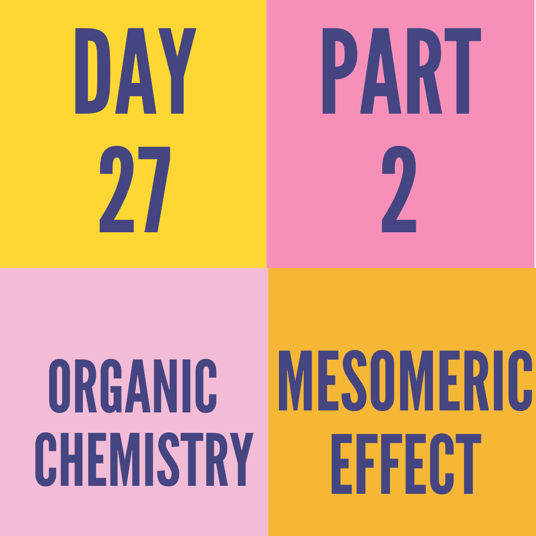 DAY-27 PART-2 MESOMERIC EFFECT