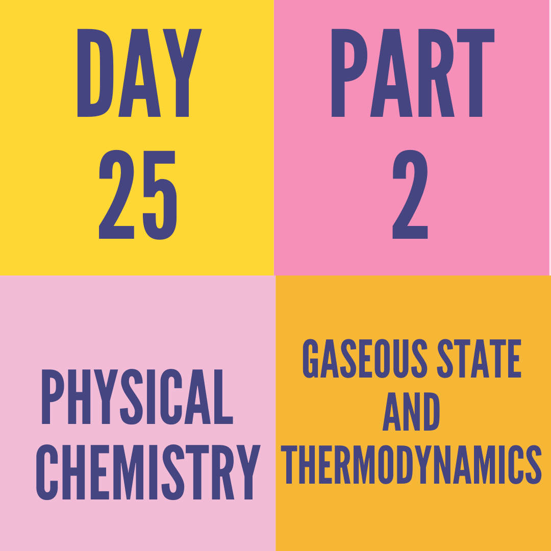 DAY-25 PART-2 GASEOUS STATE AND THERMODYNAMICS