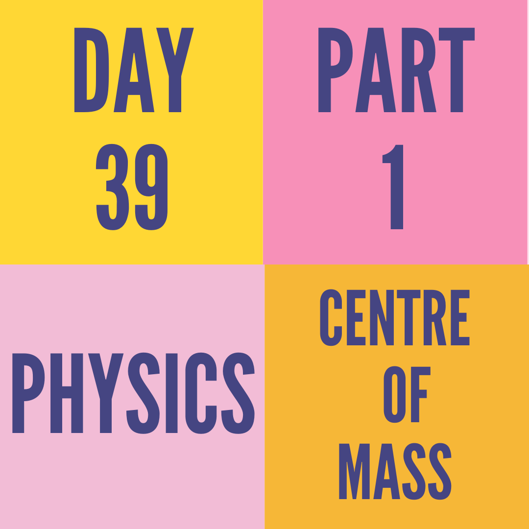 DAY-39 PART-1 CENTRE OF MASS