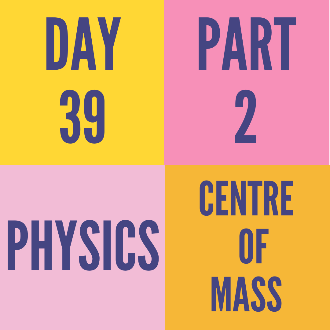 DAY-39 PART-2 CENTRE OF MASS