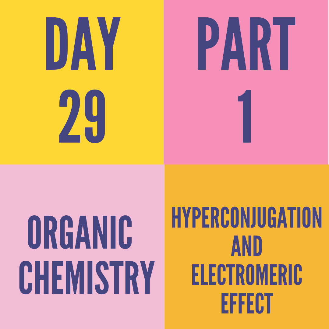 DAY-29 PART-1 HYPERCONJUGATION AND ELECTROMERIC EFFECT