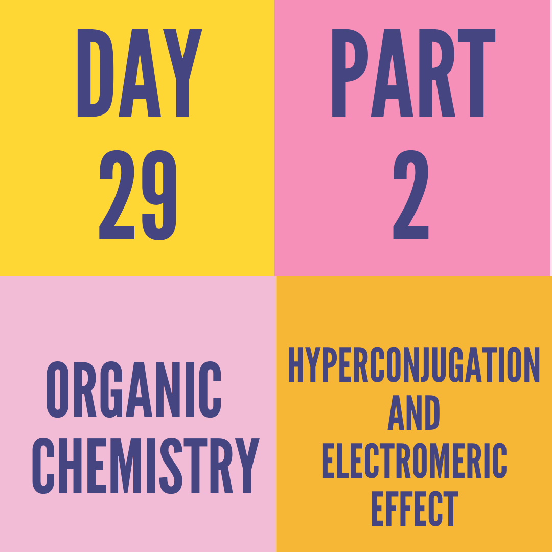 DAY-29 PART-2 HYPERCONJUGATION AND ELECTROMERIC EFFECT