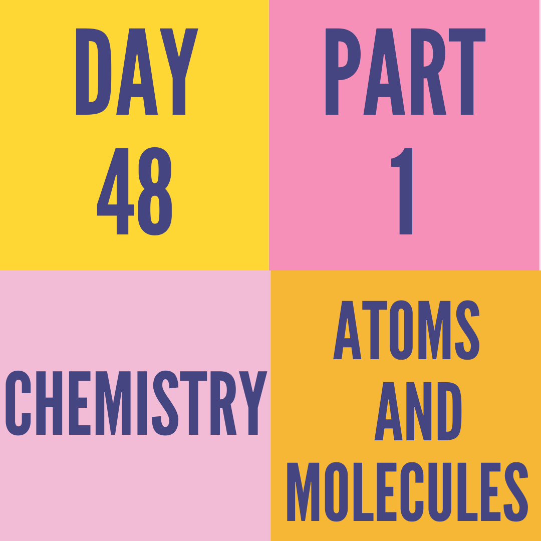 DAY-48 PART-1 ATOMS AND MOLECULES