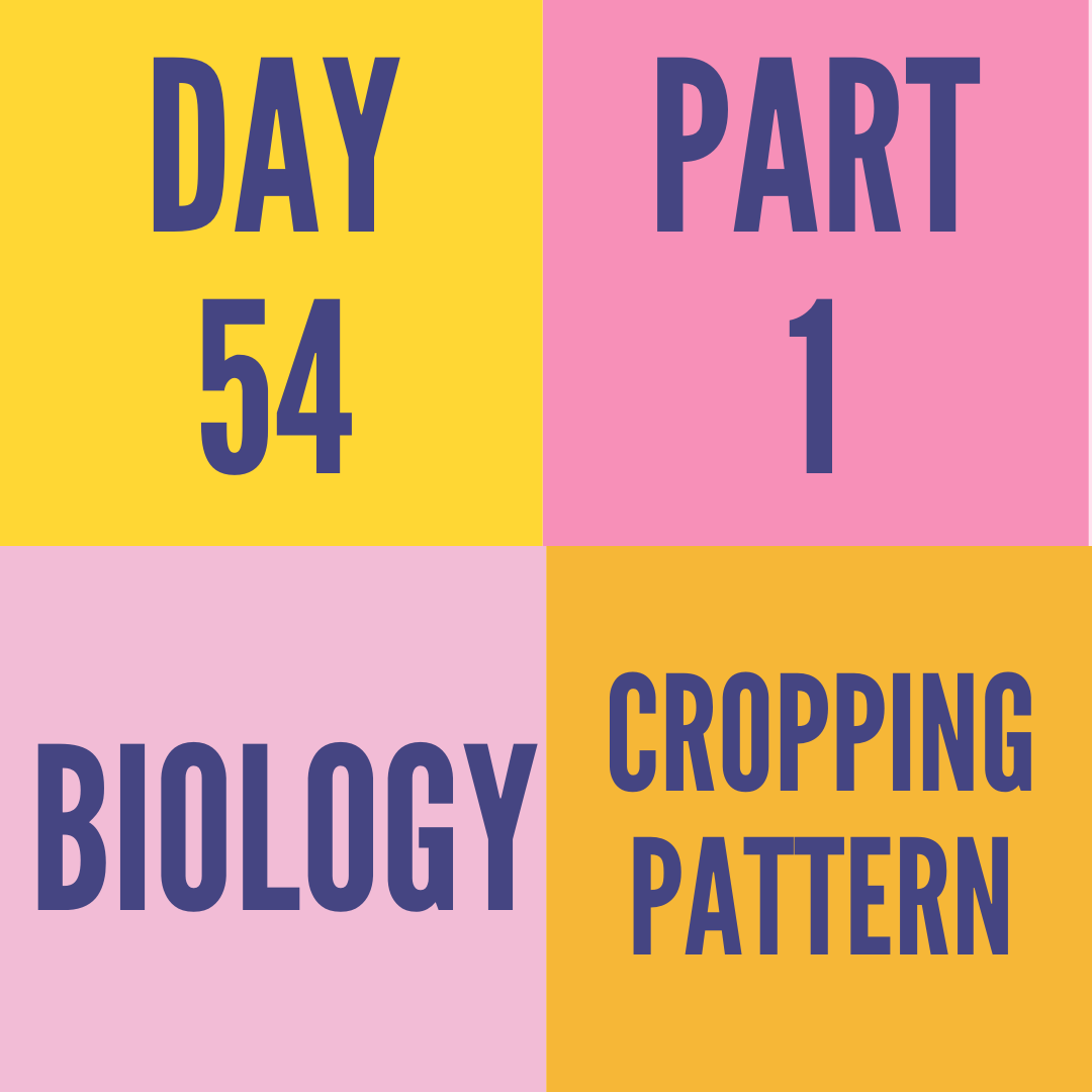 DAY-54 PART-1 CROPPING PATTERN