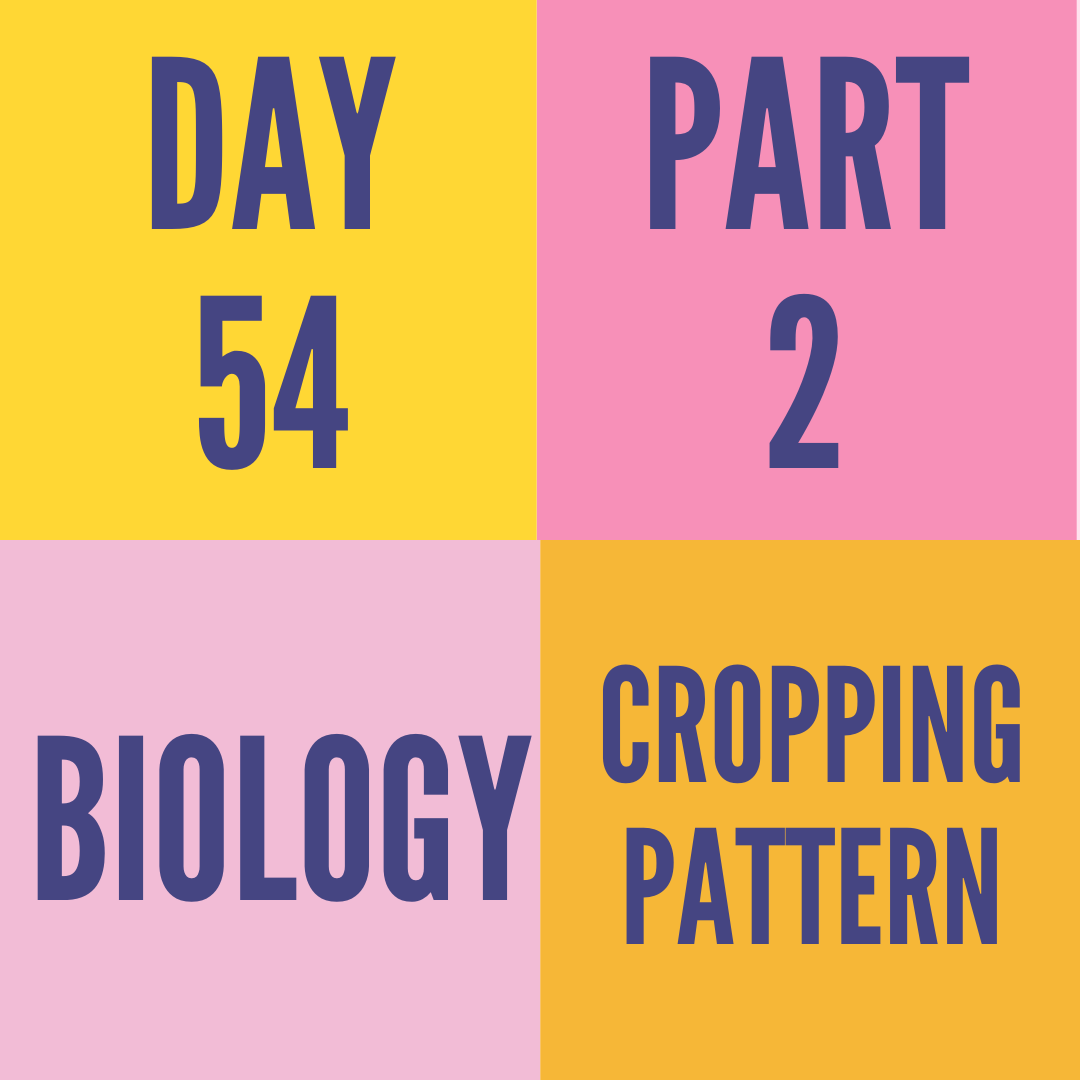 DAY-54 PART-2 CROPPING PATTERN