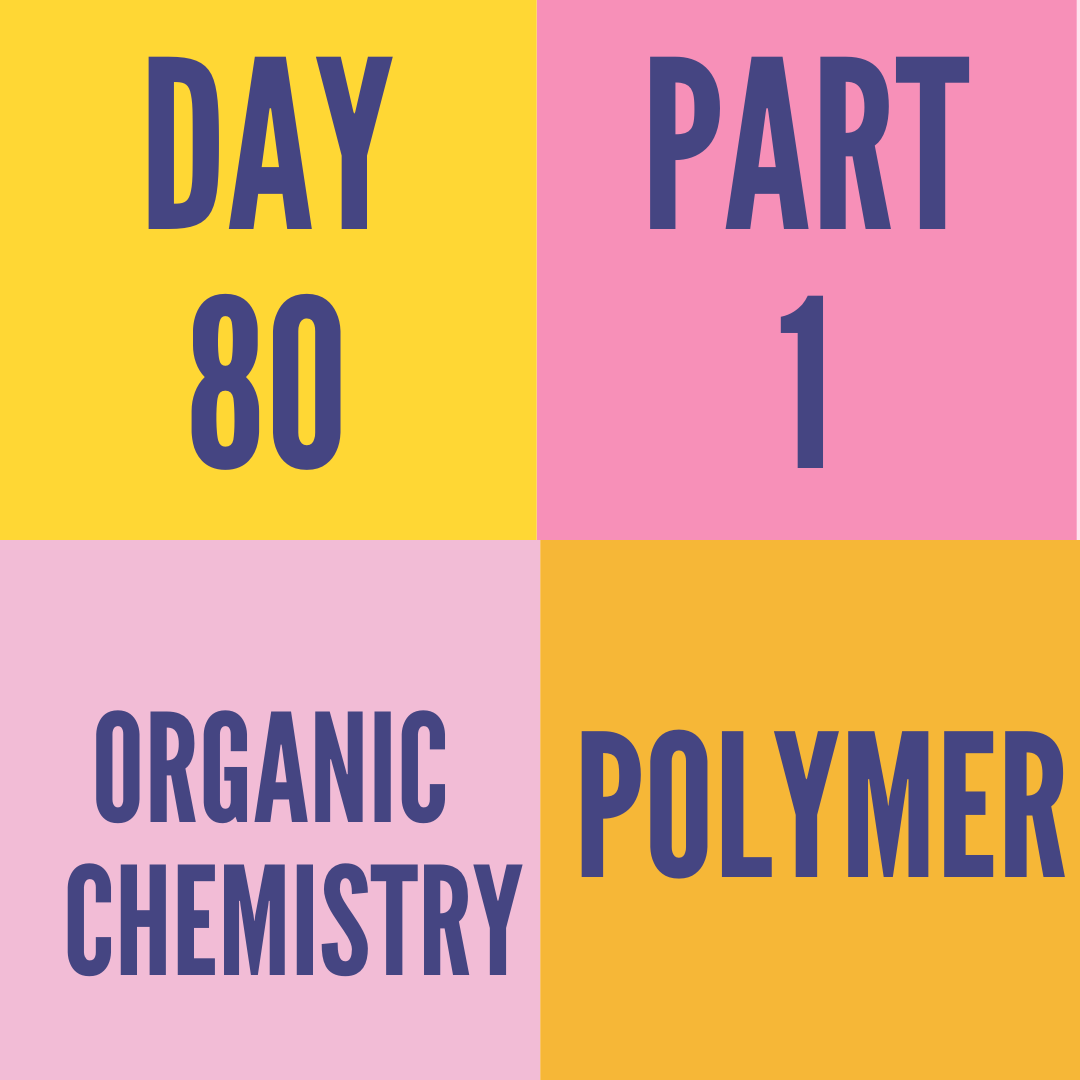 DAY-80 PART-1  POLYMER