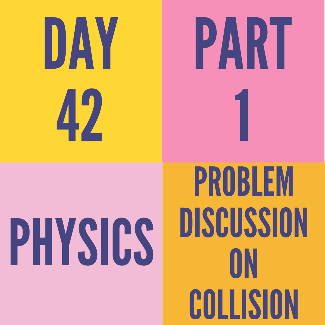 DAY-42 PART-1 PROBLEM DISCUSSION ON COLLISION