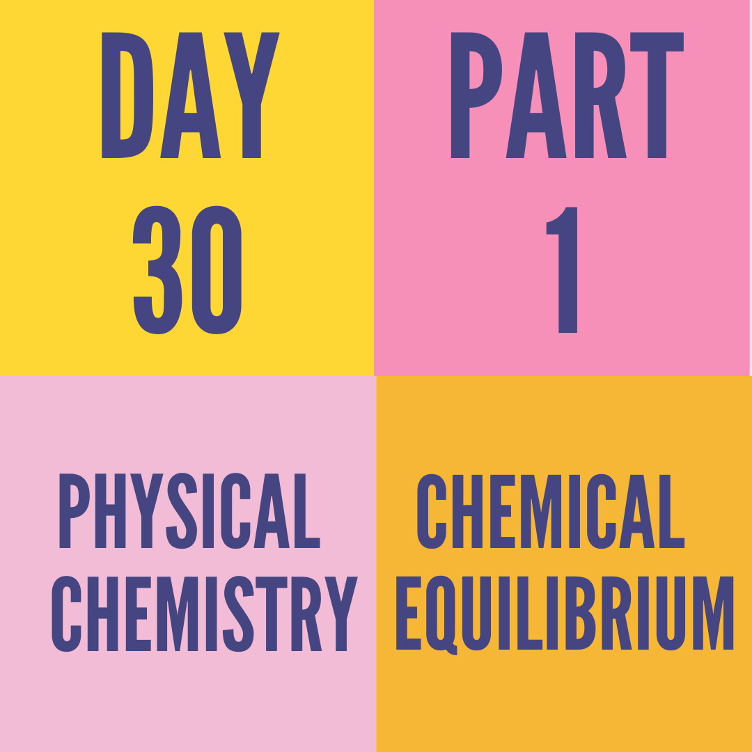 DAY-30 PART-1 CHEMICAL EQUILIBRIUM