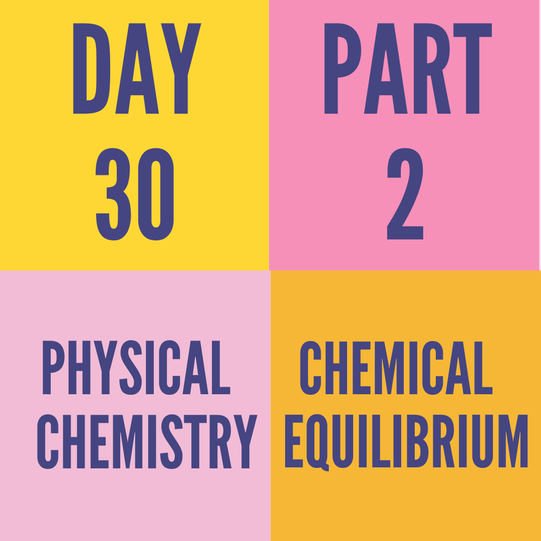DAY-30 PART-2 CHEMICAL EQUILIBRIUM