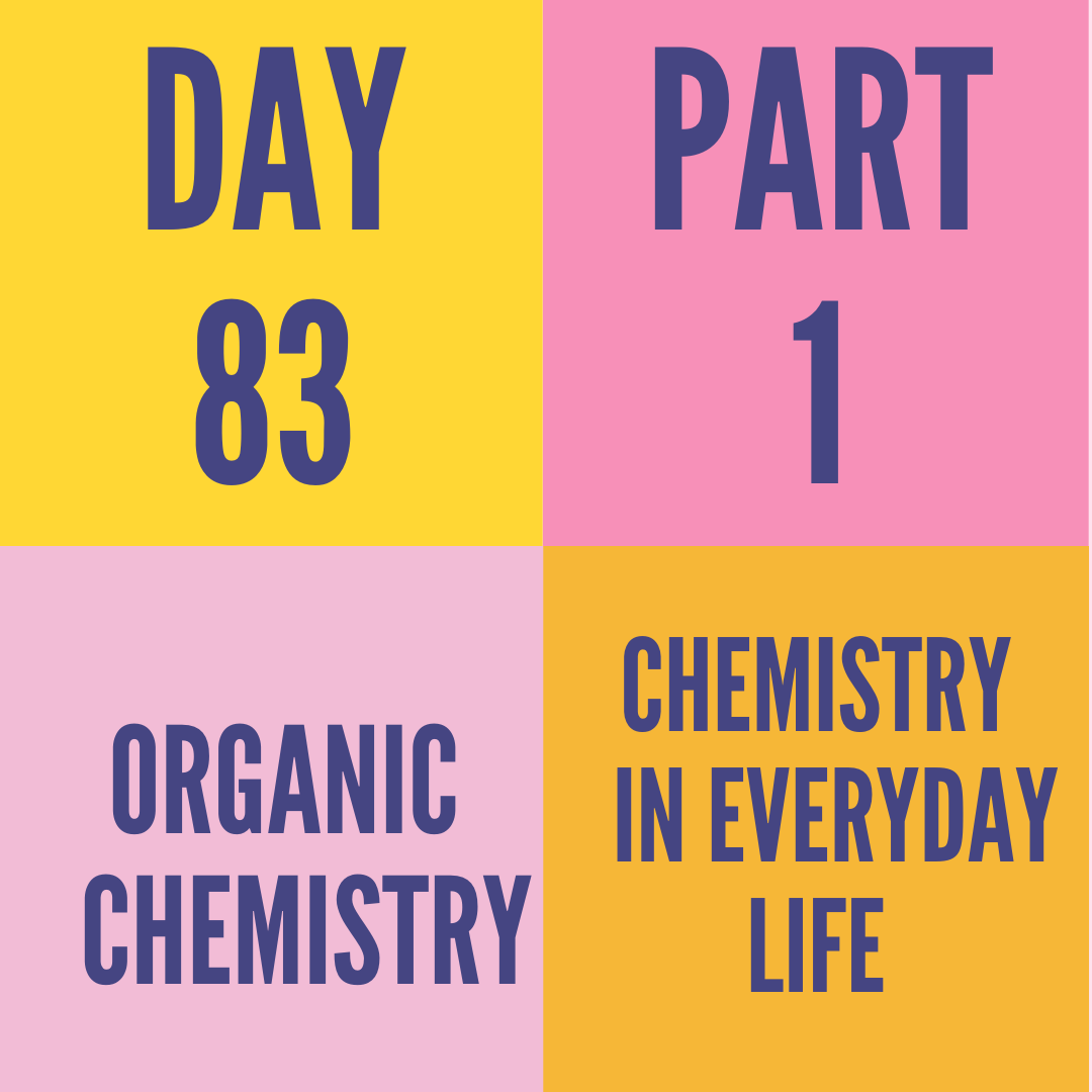 DAY-83 PART-1  CHEMISTRY IN EVERYDAY LIFE