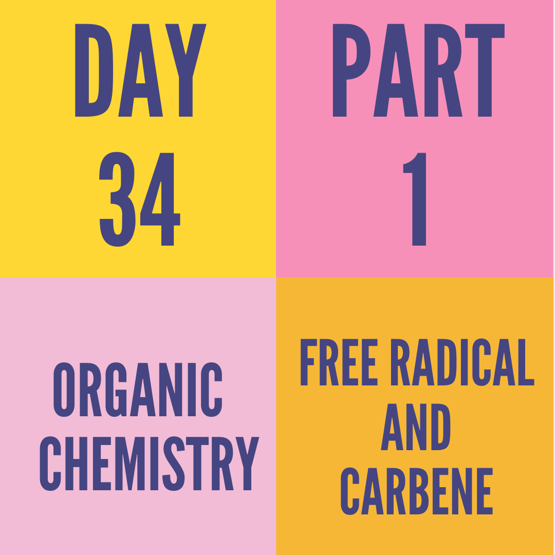 DAY-34 PART-1 FREE RADICAL AND CARBENE