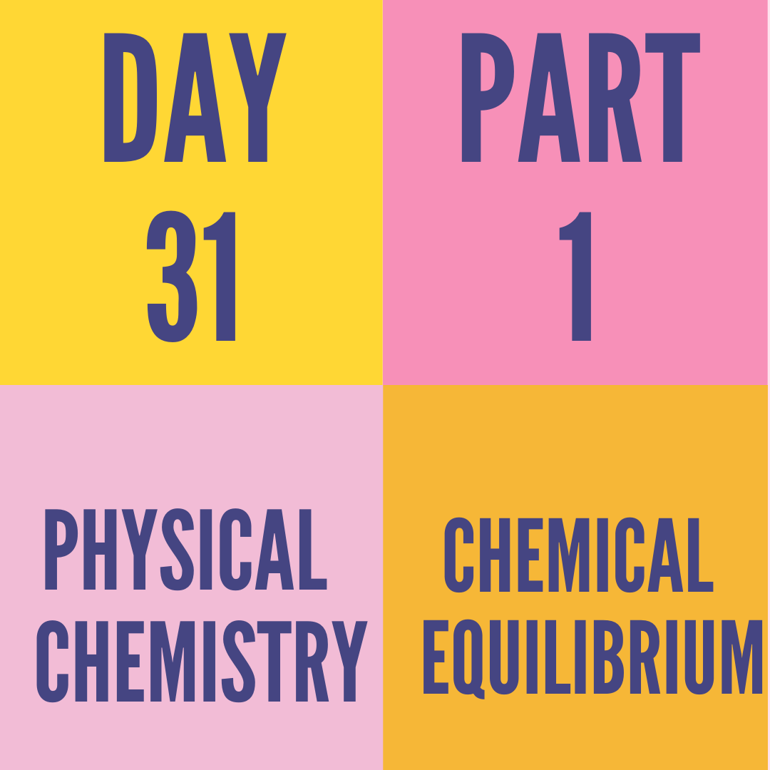 DAY-31 PART-1 CHEMICAL EQUILIBRIUM