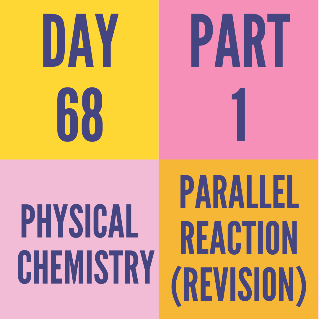 DAY-68 PART-1 PARALLEL REACTION (REVISION)