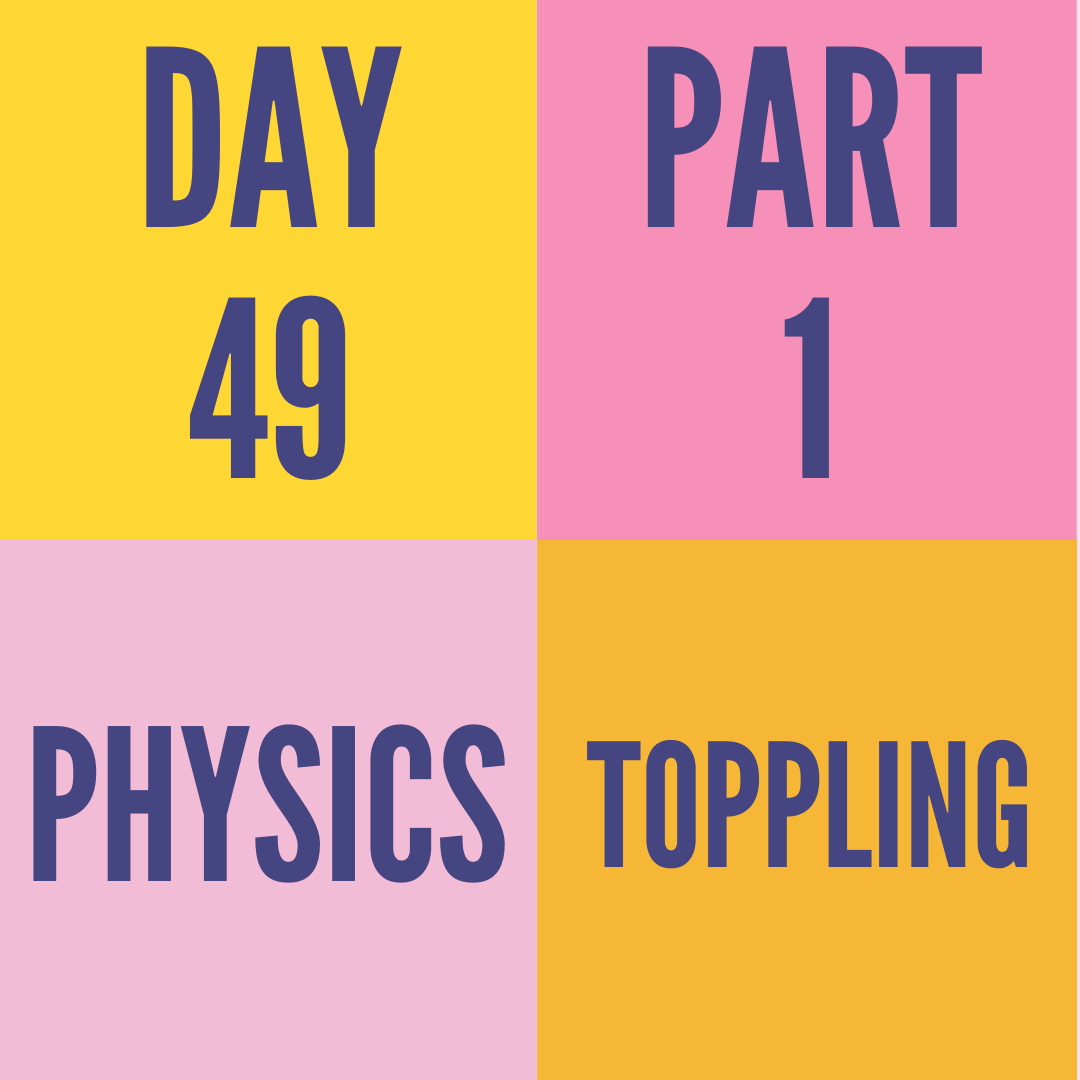 DAY-49 PART-1 TOPPLING